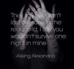 Closure Asking Alexandria Band Quotes, Song Lyric Quotes, She Quotes, Music Lyrics, Words Quotes, Qoutes, Word Poster, Kinky Quotes, Asking Alexandria