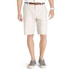 Men's IZOD Saltwater Classic-Fit Solid Flat-Front Shorts, Size: 32, Med Beige