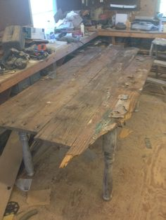 """6'x40"""" harvest table selecting boards for top"""