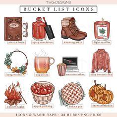 Samhain, Herbst Bucket List, Autumn Bucket List, Fun Bucket, Bonfire Night, Autumn Cozy, Autumn Aesthetic, Doodles, Autumn Activities