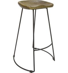 Finnic Bar Stool, Antique Ash with Black Frame