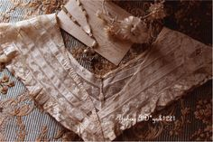 フランスアンティークローズレース美しい繊細なつけ襟飾りドレス Antique lace ¥4600円 〆03月25日