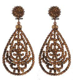 Oorbellen - Earrings - Dublos - www.pearlsandbuttons.nl Drop Earrings, Beads, Diy, Jewelry, Fashion, Beading, Moda, Bead, Bricolage