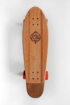 "PRO CLASS by ProClass | ca. 1970's Vintage all original Pro Class Wood Skateboard w/Track Force Wheels Truck. ""I bought the board from a farmer in Auburn, Illinois awhile back. It was his kids. I know..."