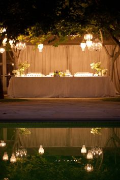 Outdoor bar pool