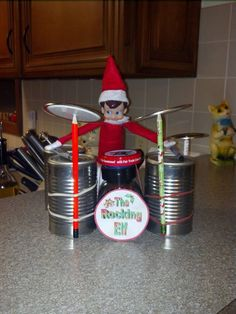 I will have to have our elf do this. My boys love playing the drums!
