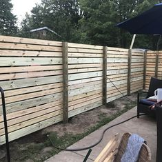 Horizontal Vertical Boards Fence