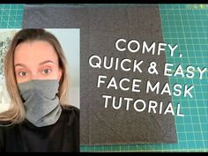 Easy Face Masks, Diy Face Mask, The Face, Diy Masque, Simple Face, Pocket Pattern, Sewing Patterns Free, Sewing Projects, Youtube