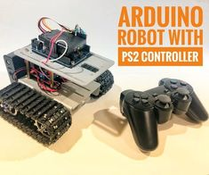 In this tutorial I'll show you how to use a wireless Playstation 2 joystick to pilot a robotic tank. An Arduino Uno board was used at the core of this . Arduino Uno, Arduino Board, Xbox, Playstation 2, Robot Chassis, Design Thinking Process, Thermometer, Serial Port, Circuit Projects