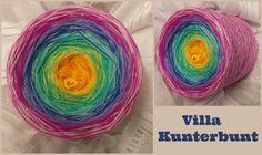Villa Kunterbunt: Hochbauschacryl 8 Farben: goldgelb hellgelb oceangrün eisblau königsblau orchid magenta rosa