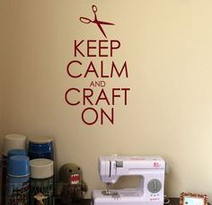 "vinyl craft ideas | vinyl wall art ""keep calm and craft on"" 
