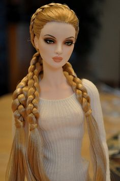 Strawberry blonde braids on a Poppy Parker doll
