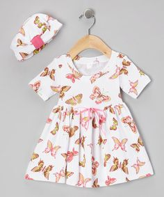 Take a look at this Butterfly Baby Organic Dolly Dress & Beanie - Infant & Toddler by Mad Sky on #zulily today!