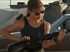 Linda Hamilton Returns to Terminator Terminator Costume, Terminator Movies, James Cameron, Martin Scorsese, Arnold Schwarzenegger, Stanley Kubrick, Alfred Hitchcock, Teaser, Man In Black