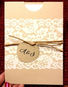 Rustic DIY wedding invitations Tag: cheap inexpensive wedding invitations cute lace country- spray paint over lace! Fall Wedding, Diy Wedding, Rustic Wedding, Dream Wedding, Wedding Ideas, Perfect Wedding, Wedding Stuff, Wedding Gifts, Inexpensive Wedding Invitations