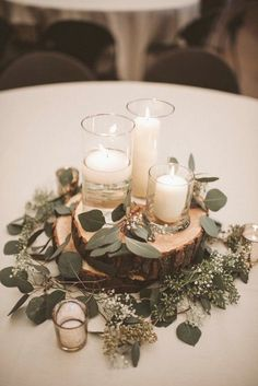 rustic wedding centerpiece ideas with candles and greenery . - rustic wedding centerpiece ideas with candles and greenery : rustic wedding centerpiece ideas with candles and greenery . - rustic wedding centerpiece ideas with candles and greenery – – - Simple Wedding Centerpieces, Rustic Centerpiece Wedding, Centerpiece Flowers, Rustic Table Centerpieces, Eucalyptus Centerpiece, Winter Centerpieces, Christmas Wedding Centerpieces, Fall Wedding Table Decor, Rustic Wedding Decorations