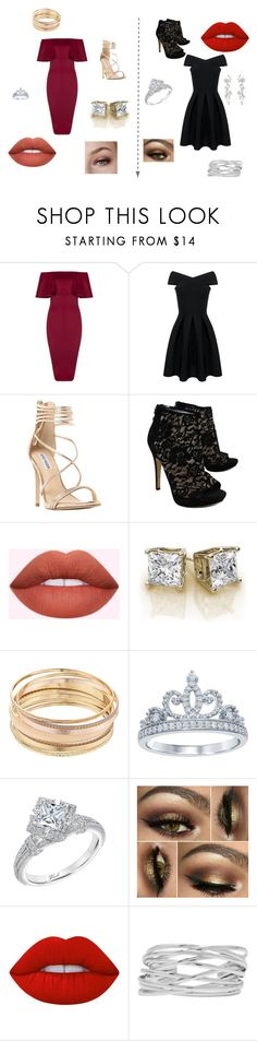 """Double date"" by alyssamasiello ❤ liked on Polyvore featuring Steve Madden, Via Spiga, Mudd, Disney, Karl Lagerfeld, Lime Crime and M&Co"