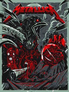 Metallica Stuttgart Posters by Dayne Henry