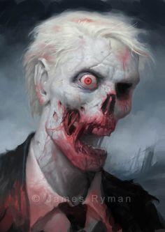 Albino Zombie by James Ryman