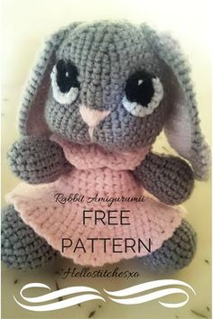 Rabbit amigurumi_free pattern