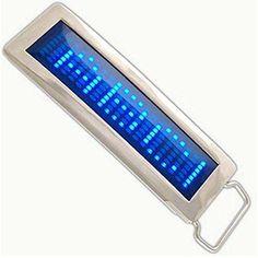 Programmable LED Belt Buckle Message Display