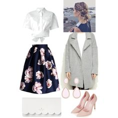 First kiss by lorencovaaneta on Polyvore featuring polyvore, fashion, style, MSGM, Chicwish, Topshop, Kate Spade and Forever New