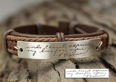 Memorial Signature Bracelet Actual Handwriting by TimArtCreations