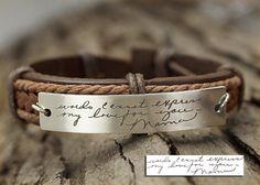 Memorial Signature Bracelet Actual Handwriting by TimArtCreations