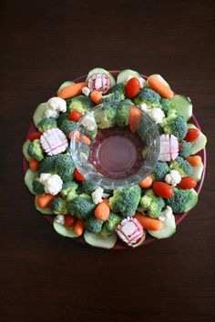 Veggie Wreath for Christmas