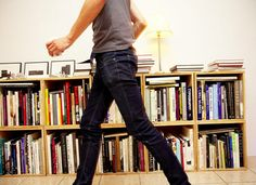 jeans + tee + books = good together