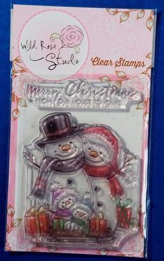 Wild Rose Studio 'Snowman Family' Christmas Clear Stamp CL496 | eBay