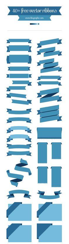 40+ Free Vector Ribbons   Web Design Freebies