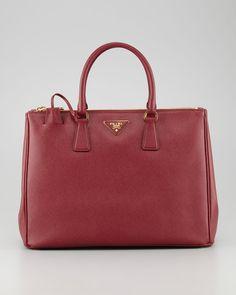 Prada Saffiano Executive Tote Bag, Cerise - Neiman Marcus