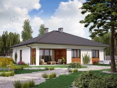 DOM.PL™ - Projekt domu PJK Ka26 CE - DOM GW1-31 - gotowy koszt budowy 100 M2, Gazebo, House Plans, Outdoor Structures, Outdoor Decor, Home Decor, Blueprints For Homes, Homemade Home Decor, Kiosk