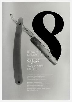 #poster #theater #razor #mono #gray Teatro Sancarlo by luca fontana