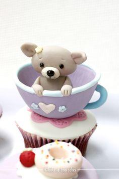 Puppy in a Tea Cup Cupcake
