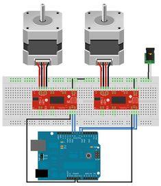 bipolar stepper motor wiring arduino pinterest arduino rh pinterest com stepper motor driver arduino wiring stepper motor 2 wires arduino