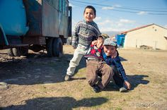 Kids from a refugee camp in Georgia