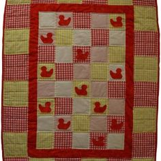Lovely Little Ducklings - An Intermediate Skills Level Patchwork Project. Bright, Quilts, Pattern, Projects, How To Make, Baby, Scrappy Quilts, Quilt Sets, Patterns