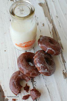 Homemade chocolate doughnuts