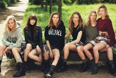 Lara, Daria, Raquel, Kate and others / Super Normal Super Models / W Magazine / Mert & Marcus