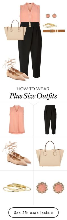 """plus size spring/summer work looks"" by kristie-payne on Polyvore featuring New Look, Chloé, Miriam Haskell, Oasis, Moreau, Michael Kors, Minor Obsessions and M&Co"