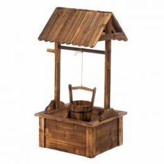 Wooden Wishing Well Garden Planter   Garden Planters, Planters And Westerns