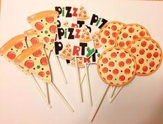 Pizza Party Themes, Kids Pizza Party, Bunco Themes, Pizza Party Birthday, Ballerina Birthday Parties, Birthday Cupcakes, Birthday Party Decorations, 10th Birthday, Garfield Birthday