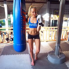 """""""My body is so sore after yesterdays Thai Boxing with My @parleros  #wargpower #kohtao #thaiboxing"""""""