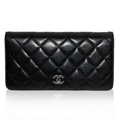 Chanel Black Quilted Wallet http://www.consignofthetimes.com/product_details.asp?galleryid=8326