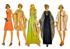1970s McCalls 3413 Misses Scoop Neck Dress and Cocoon Float Dress vintage sewing pattern by mbchills.etsy.com