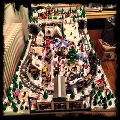 The Christmas Lego winter village for 2014 by Matt Carter