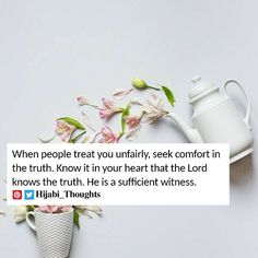 Beautiful Islamic Quotes, Islamic Qoutes, Know The Truth, Quran, Thoughts, Motivation, Deen, Allah, Spiritual