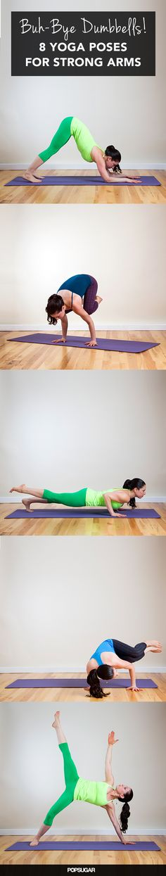 Swap the Dumbbells For Yoga to Tone Arms Faster - best arm-strengthening yoga poses. Swap the Dumbbells For Yoga to Tone Arms Faster - best arm-strengthening yoga poses. Kundalini Yoga, Ashtanga Yoga, Vinyasa Yoga, Yoga Bewegungen, Yoga Pilates, Iyengar Yoga, Pilates Reformer, Fitness Workouts, Fitness Del Yoga